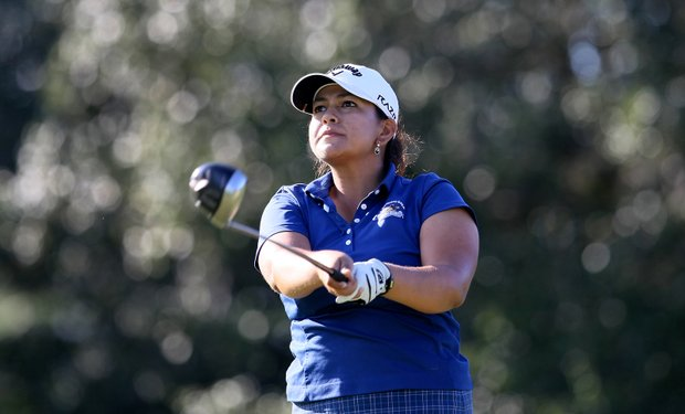 Lizette Salas, former USC player during Stage II of LPGA Qualifying Tournament. Salas tied for fourth and advances to the final stage.
