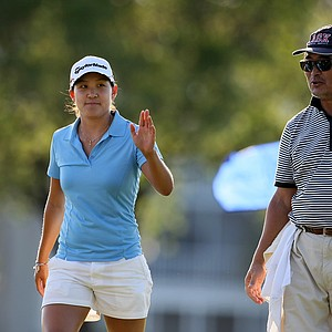 Hannah Yun leaves the 18th green during Stage II of LPGA Qualifying Tournament. Yun finished the tournament T8.
