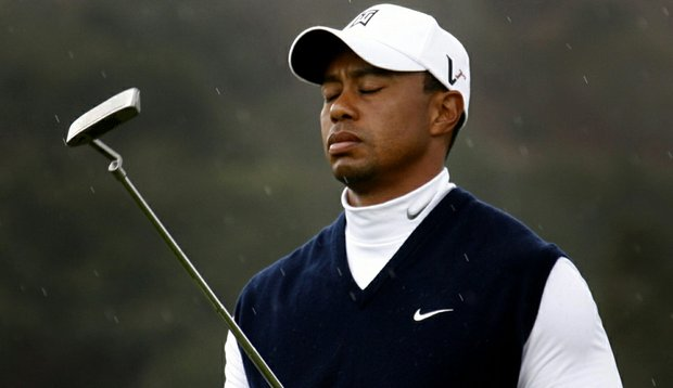 Tiger Woods during Round 1 of the Frys.com Open.