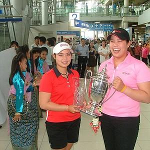Moriya and Ariya Jutanugarn return to Bangkok, Thailand after a long summer of golf in the U.S.