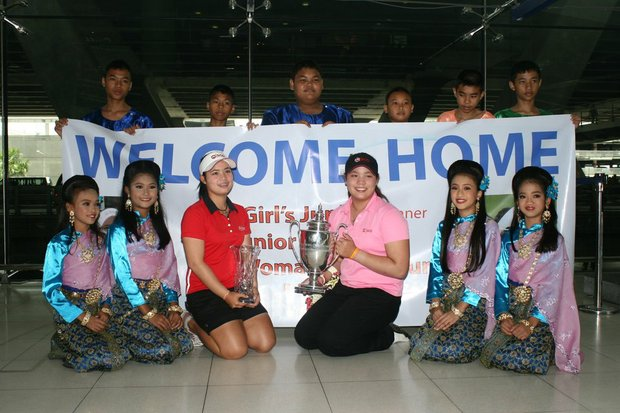 Moriya and Ariya Jutanugarn are welcomed back to Thailand in August after five months competing in the U.S.