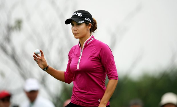 Azahara Munoz shot a 66 during Friday's round. Munoz and Anna Nordqvist are tied for the lead heading into the weekend.