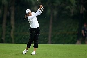 Candie Kung posted at 68 on Friday to tie for third with Yani Tseng.