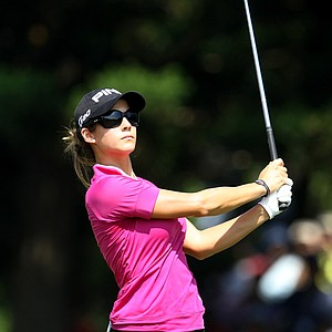 Azahara Munoz during the final round of the inaugural 2011 Sunrise LPGA Taiwan Championship.