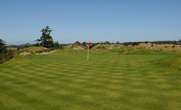 A relatively flat green, the third hole opens the way to some of the best golf The Preserve has to offer.