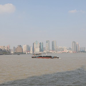 View of Shanghai on the banks of the Yangtze River.