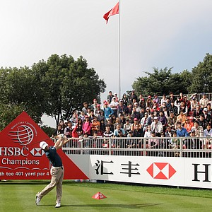 Rory McIlroy during the first round of the WGC-HSBC Champions.
