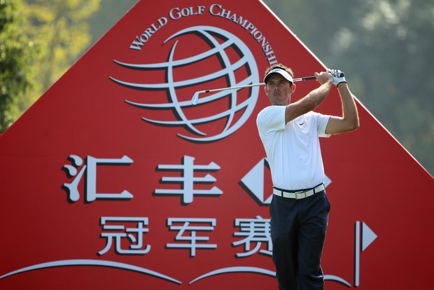 Charl Schwartzel during the first round of the WGC-HSBC Champions.