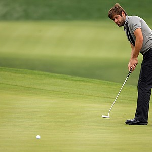 Robert Rock during the first round of the WGC-HSBC Champions at Sheshan International Golf Club.