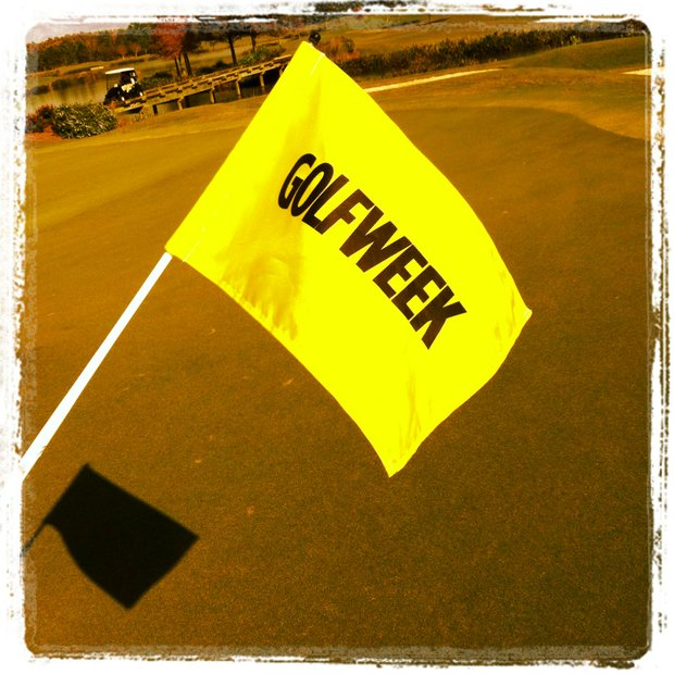 The pins for Golfweek East Coast Junior Invitational. (Taken with Instagram)