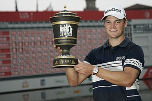 Martin Kaymer after winning the WGC-HSBC Champions