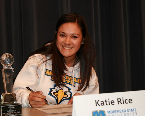 Katie Rice signs with Morehead State