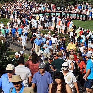 Tiger Woods tees off on the 12th hole during day two of the 2011 Australian Open.