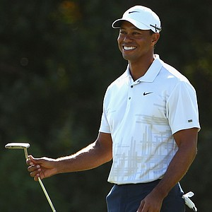 Tiger Woods was 5 under on his first nine (he started on No. 10) during day two of the 2011 Australian Open.
