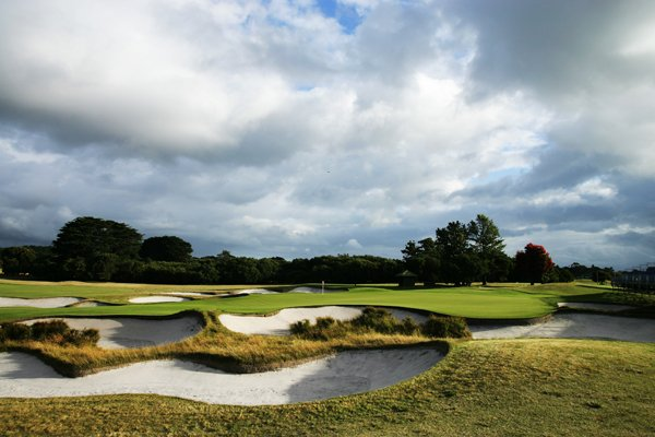 The 448-yard, par-4 16th hole at Royal Melbourne Golf Club (normally the 18th on the East Course).