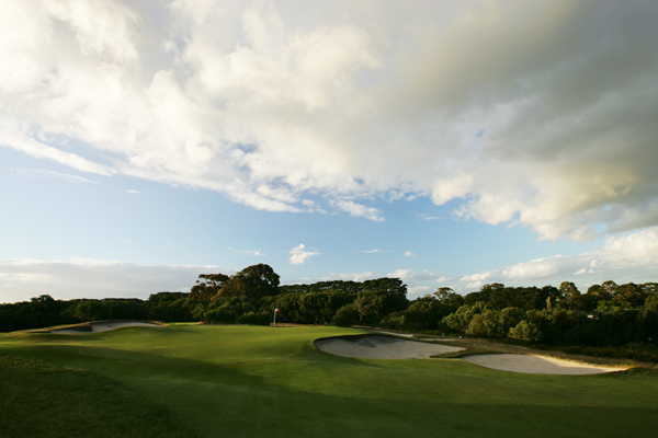 The green on the 148-yard par-3 5th hole at Royal Melbourne (normally the 7th hole on the West course).