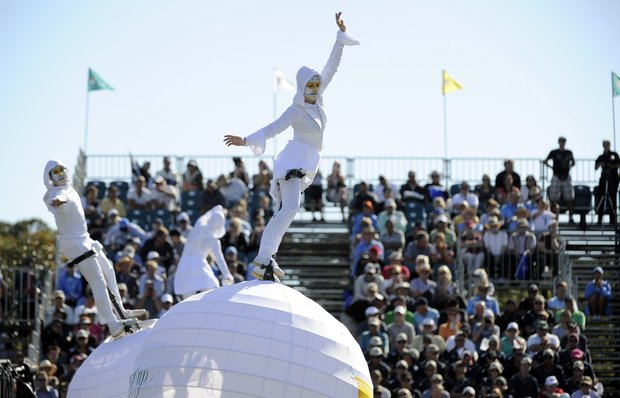 Performers during the Opening Ceremonies of the Presidents Cup.
