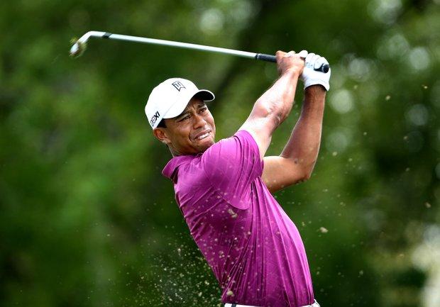 Tiger Woods hits his tee shot at No. 7 during Round 3 of the Arnold Palmer Invitational at Bay Hill Club & Lodge.