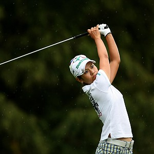 Ai Miyazato on Thursday at the CME Group Titleholders at Grand Cypress in Orlando, Fla.