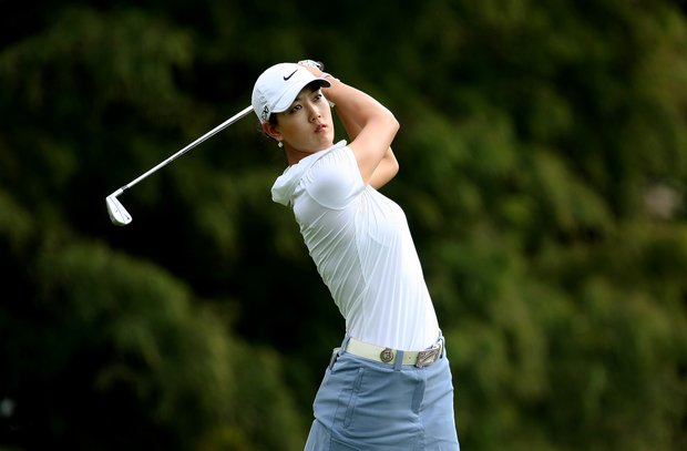 Michelle Wie on Thursday at the CME Group Titleholders at Grand Cypress in Orlando, Fla.