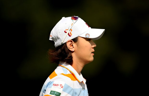 Na Yeon Choi is the leader after Friday at the CME Group Titleholders at Grand Cypress in Orlando, Fla.