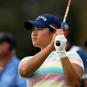 Yani Tseng waches her tee shot at No. 12 on Saturday at the CME Group Titleholders at Grand Cypress in Orlando, Fla.