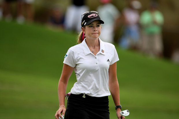 Paula Creamer leaves the 10th hole with par on Saturday at the CME Group Titleholders at Grand Cypress in Orlando, Fla.