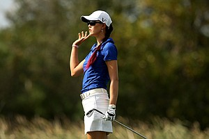 Michelle Wie on Saturday at the CME Group Titleholders at Grand Cypress in Orlando, Fla.