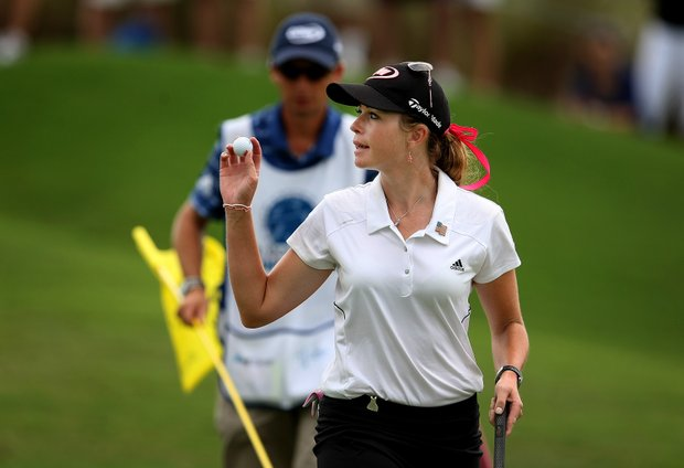 Paula Creamer makes par on Saturday during Round 3.