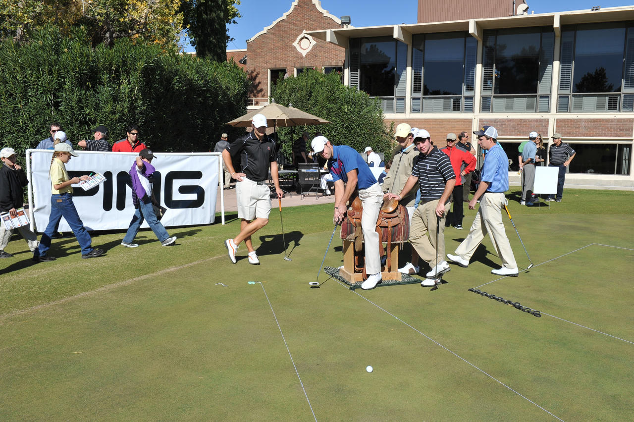The putting competition at the Western Refining.