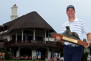 Garth Mulroy after winning the 2011 Alfred Dunhill Championship