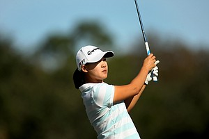 Hanna Yun during the opening round of LPGA Qualifying School at LPGA International.