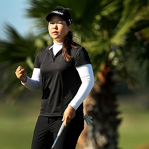 Christine Song shot a 66 during the opening round of LPGA Qualifying School at LPGA International.