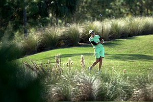 Carlota Ciganda of Larrainzar, Spain, during the second round. Carlota is tied for 30th.