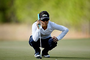Stephanie Kono a senior at UCLA during the second round of LPGA Qualifying Tournament. Kono is currently in second place.