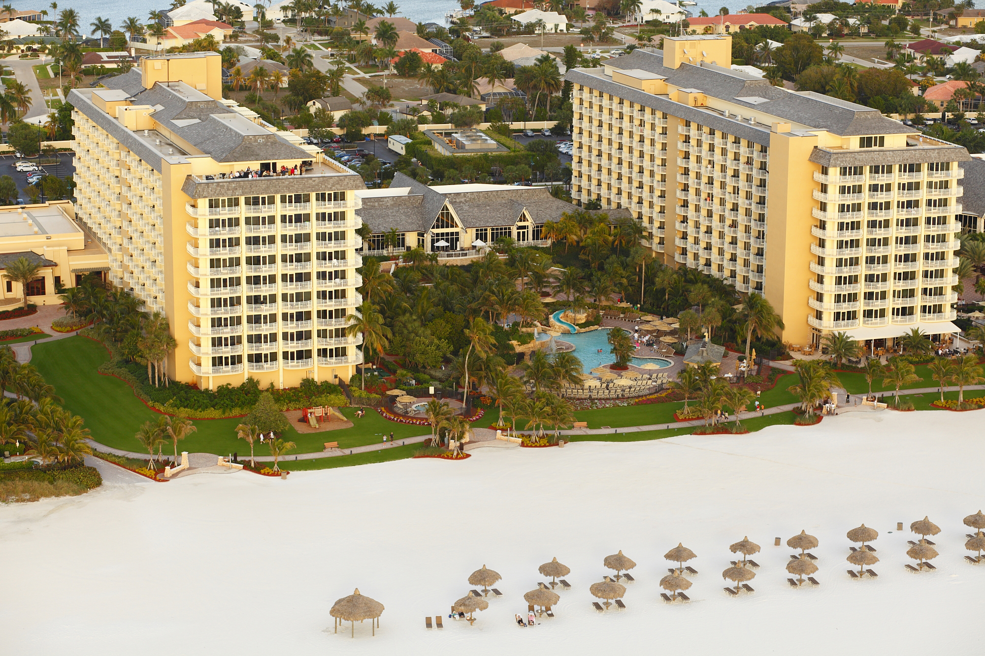 An aerial of the Marco Island Marriott.
