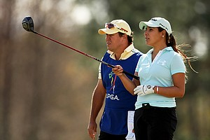 Mariajo Uribe of Columbia during the third round of LPGA Qualifying School.