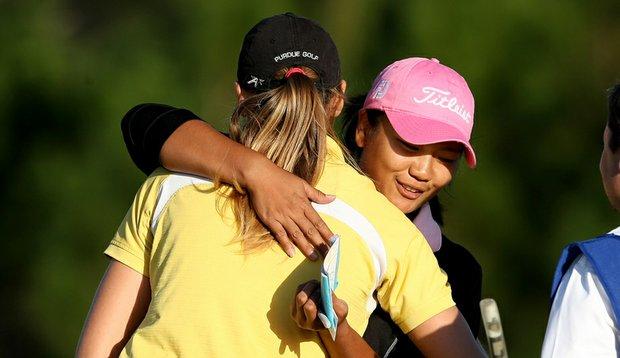 Former Purdue players Maude-Aimee Leblanc and Numa Gulyanamitta.
