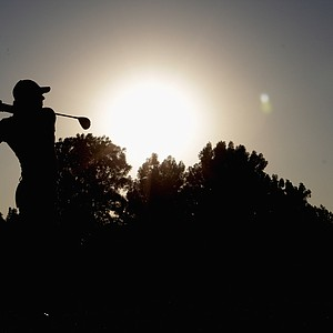 Rory McIlroy on the par-5 18th hole during the second round of the Dubai World Championship.