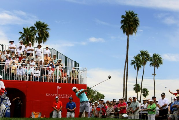 Yani Tseng's drive at No. 1 during the third round of the Kraft Nabisco Championship.