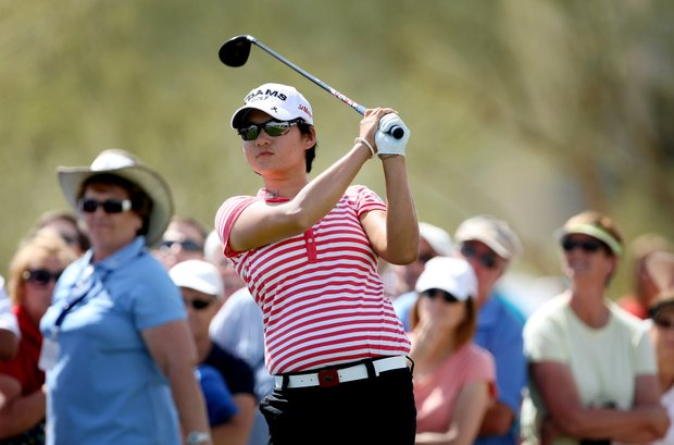 Yani Tseng during Round 1 of the RR Donnelley LPGA Founders Cup at Wildfire Golf Club.