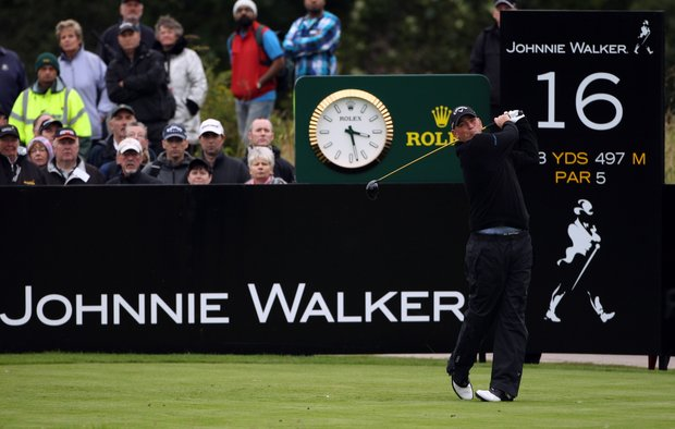 Champion Thomas Bjorn during the final round of the Johnnie Walker Championship at Gleneagles.