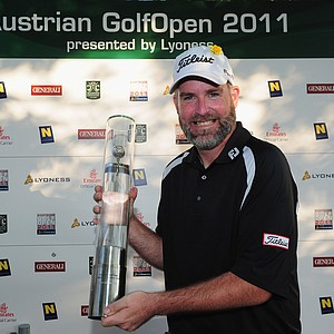Kenneth Ferrie after winning the Austrian Golf Open.
