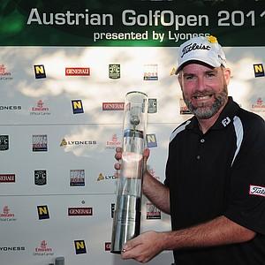 Kenneth Ferrie after winning the Austrian Golf Open.