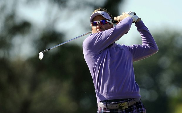 Ian Poulter during Round 1 of the Australian Masters