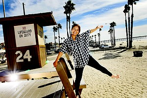 Ai Miyazato having fun while being photographed in Newport Beach, California for Golfweek.