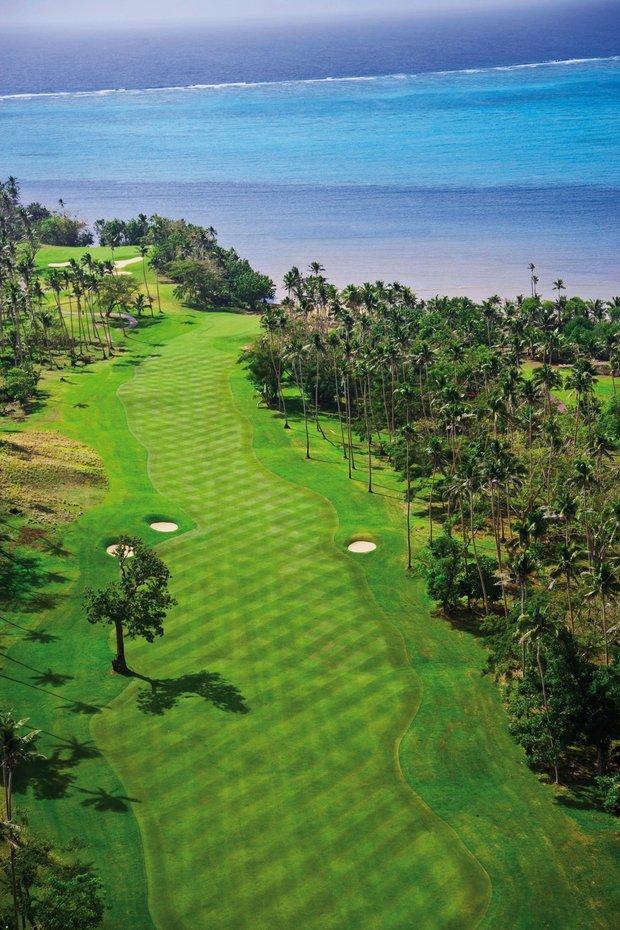 The 12th hole at Laucala Island