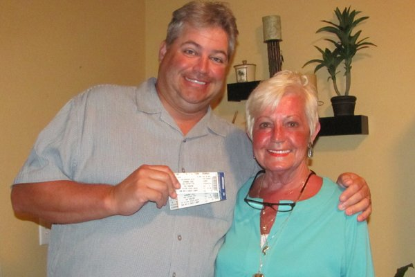 Jeff and Suzanne Babineau, off to see Wynonna Judd in concert to celebrate Mother's Day, 2010.