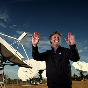 One of Golf Channel's lead analysts, Brandel Chamblee chats it up while being photographed for Golfweek in 2011.