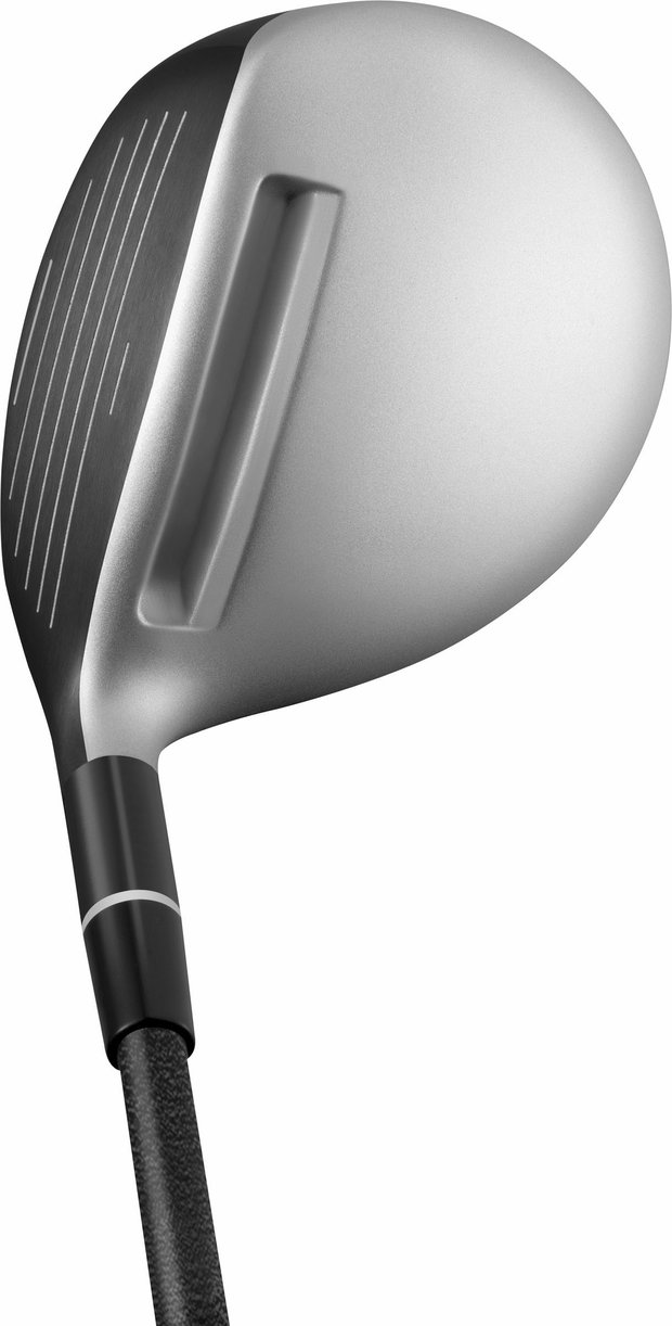 "Adams calls its Speedline Fast 12 ""the longest and most forgiving fairway wood ever."" It credits this to Velocity Slot Technology."